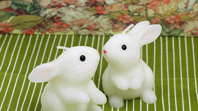 #14412 Rabbit Candle